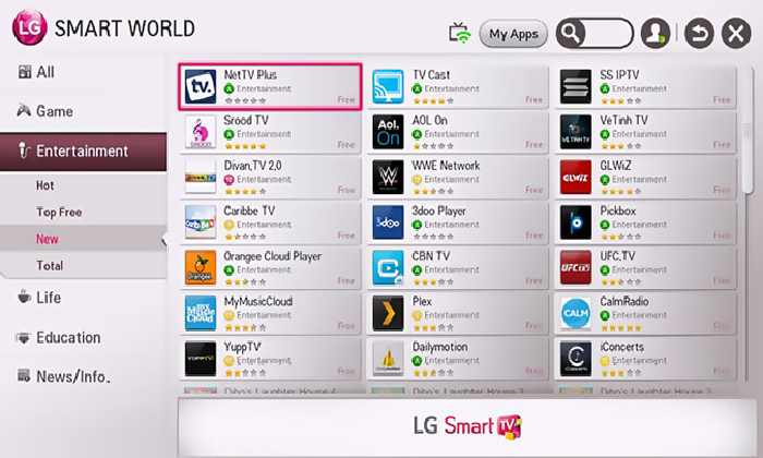 lg tv smart net tv