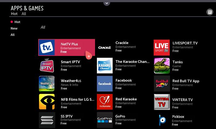 net tv lg app tv aus